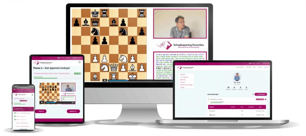 Mockup Schaakopening Essenties Online Training - wit
